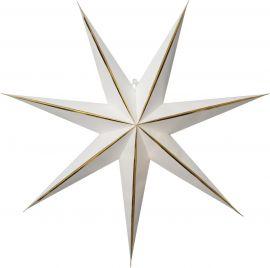 Pappersstjärna Lysa vit Star Trading