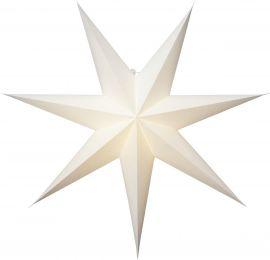 Pappersstjärna Plain vit Star Trading