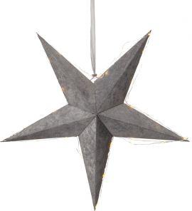 Pappersstjärna Velvet grå sammet Star Trading