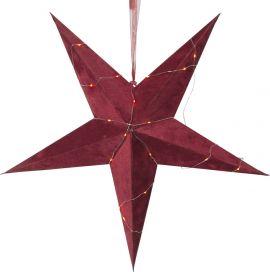 Pappersstjärna Velvet röd sammet Star Trading