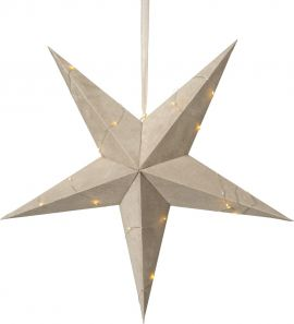 Pappersstjärna Velvet beige sammet Star Trading