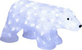 Dekorationsfigur Crystalo Isbjörn LED Star Trading