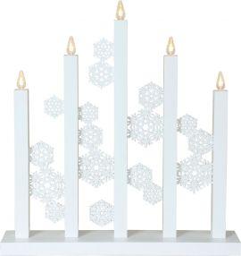Snowfall Adventsljusstake vit 46cm Star Trading