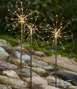 Firework Outdoor 3-pack silver varmvit Star Trading
