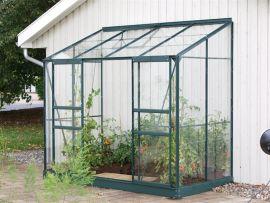 Växthus Vitavia Ida grön/glas 2,6x1,3m / 3,3m²