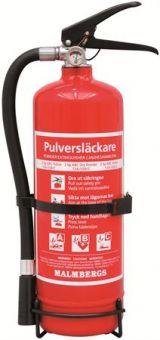 Pulverbrandsläckare, ABC, 2 kg, Röd