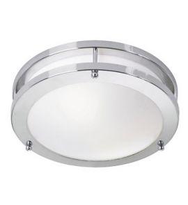 Täby LED Plafond Chrome/vit