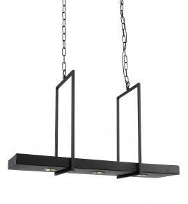 Tray taklampa svart