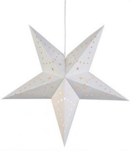 Mikke Stjärna 45cm Vit Papp