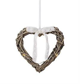 Holstad Hjärta Pendel 25 cm Grå