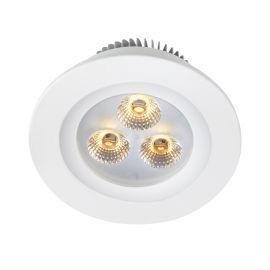 Zeus Downlight 3x1W 5-Set Vit IP44