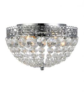 Saxholm plafond krom kristall IP21