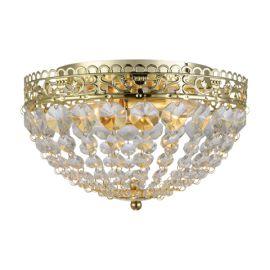 Saxholm plafond guld kristall IP21