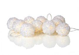 Skön Ljusslinga Bollar 10LED White