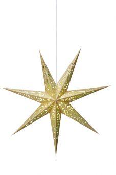 Elin pappersstjärna guld/grön 75cm