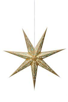Elin pappersstjärna guld/blå 75cm