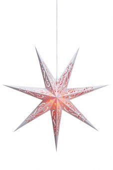Elin pappersstjärna röd/vit 75cm