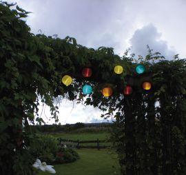 Solcellsslinga Festival flerfärgad