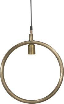 Circle fönsterlampa i metall industri råmässing 35cm