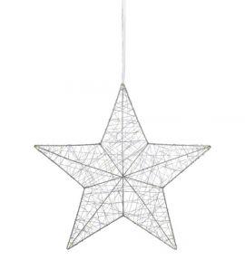 Artur Pendel Stjärna LED Silver 50cm