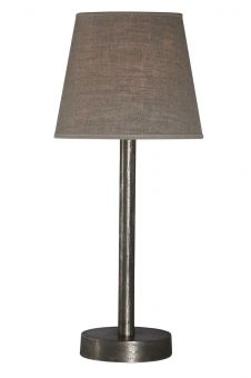 Bordslampa Colombus Råsilver 49cm
