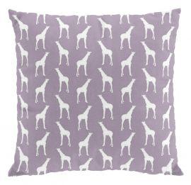 Giraff kuddfodral 50x50cm lila