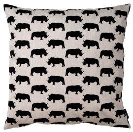 Noshörning kuddfodral 50x50cm linne