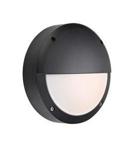 Hero vägglampa svart IP44 LED