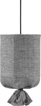 Round Takskärm utomhus Lin grå/svart 30cm PR Home