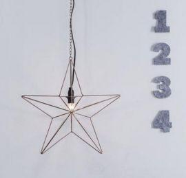 Tjusa Metallstjärna 42cm Koppar