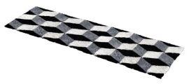 Fårskinnsmatta Stairs Black 60x180cm