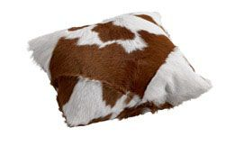 Kalvskinnskudde Calf Brown/White 40cm