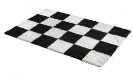 Fårskinnsmatta Chess Black Offwhite 120x180cm