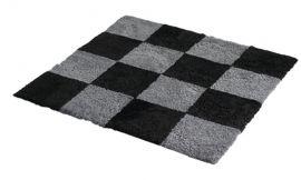Fårskinnsmatta Chess Anthracite/Black 120x180cm
