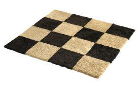 Fårskinnsmatta Chess Mocha/Honey 120x180cm