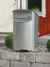 Detaljbild Biggi Postlåda Rondo Mini Silver