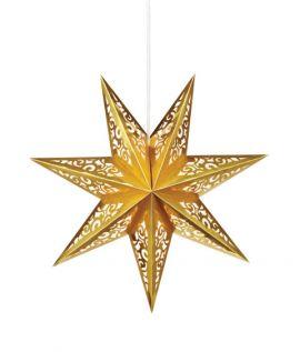 Vallby Adventsstjärna 75cm Guld