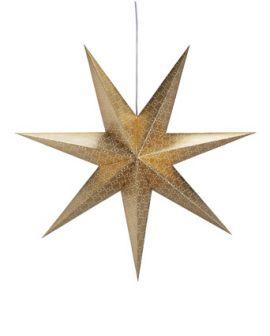 Tostared Adventsstjärna 75cm Guld