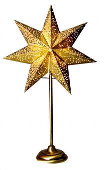 Antique stjärna på fot guld 55cm