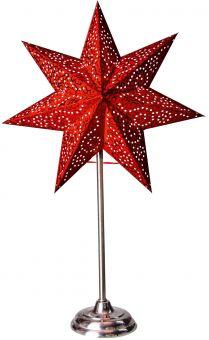 Antique stjärna på fot röd 55cm
