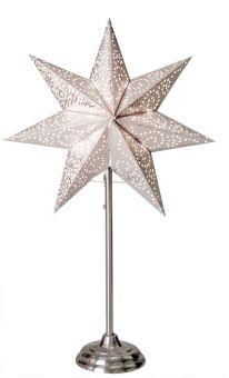 Antique stjärna på fot vit 55cm