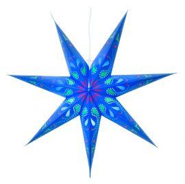 Siri blå pappersstjärna