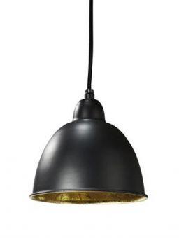 Chicago Taklampa svart/guld 18 cm