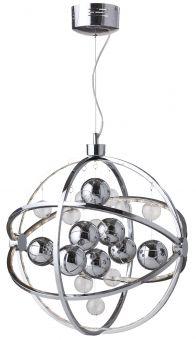 Globe taklampa 50cm krom