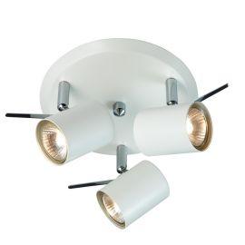 Hyssna LED taklampa 3L IP21 vit
