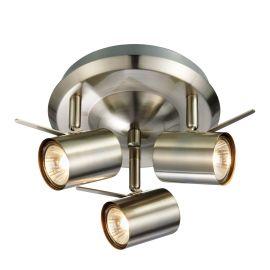 Hyssna LED taklampa 3L stål