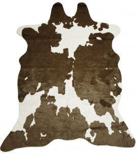 Kohud fake Sonny brun/vit 150x200cm Skinnwille