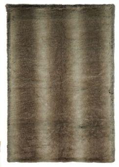 Cozy Pläd fuskpäls brun 120x180cm Skinnwille