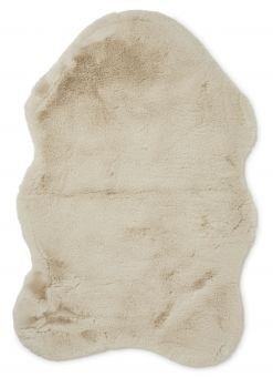 Fluffy Fäll fuskpäls beige 60x90cm Skinnwille