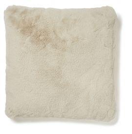 Fluffy Kudde fuskpäls beige 45x45cm Skinnwille